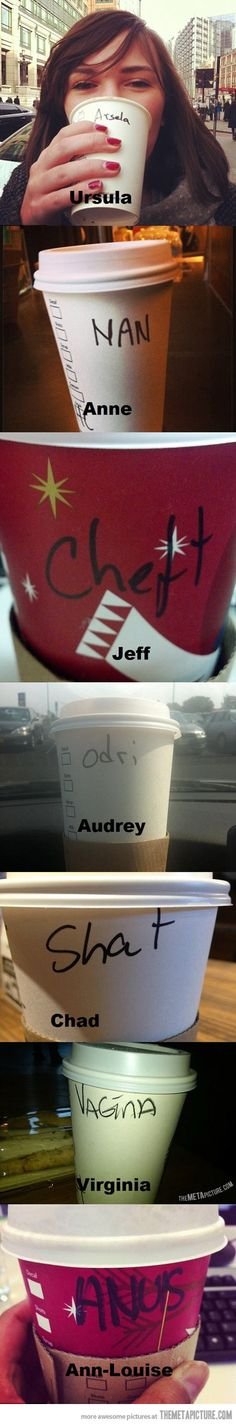 That's not my name, Starbucks...