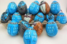 """Doctor Who Themed Easter Eggs--I should have a board called """"I'm such a geek"""""""