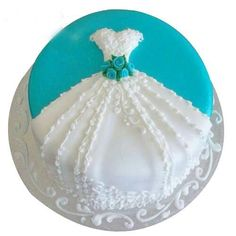 Classy Bridal Shower Cake Decorating Ideas regarding Wedding Shower Cake-Simple, Yet Classy Absolutely One Of My Picture Pretty Cakes, Cute Cakes, Beautiful Cakes, Amazing Cakes, Wedding Shower Cakes, Wedding Cakes, Wedding Dress Cake, Breakfast At Tiffanys, Breakfast Cake
