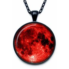 Blood Moon Pendant Moon Necklace Moon Jewelry full moon galaxy... ($14) ❤ liked on Polyvore featuring jewelry, necklaces, accessories, chain pendants, planet necklace, chain necklace, cosmic jewelry and pendants & necklaces