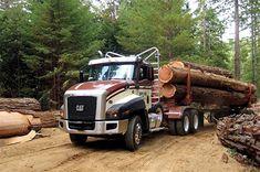 Caterpillar 660 logging truck
