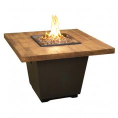 Cosmopolitan French Barrel Oak Square Fire Table