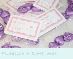 """Valentine printable - make this for Em's preschool! I had to resize it because the treat bags I got were 5"""" wide."""
