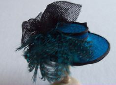 Peacock blue silk hat 1/12th scale
