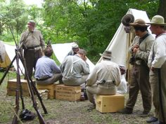 Wilcox camp at 150th Gettysburg