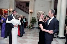 Princess Diana dances with Clint Eastwood - Reagan Library