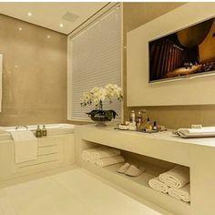 Banheiro clean e sofisticado!