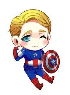 chibi Cap!!! adorable