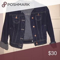 Cropped jean jacket! Perfect for upcoming fall weather! Very cute with any outfit or dress! Only worn once! Arizona Jean Company Jackets & Coats Jean Jackets