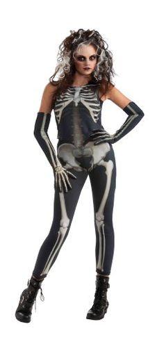 Drama Queens Skelee Girl Costume Halloween Ghoulish Skeleton Bones Scary 3-4 Yrs