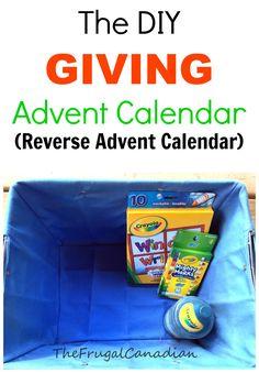 DIY Giving Advent Calendar Idea (Reverse Advent Calendar)