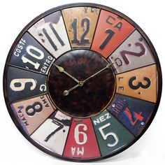 Time Travels License Plate Wall Clock - Clocks - Framed Art - Unframed Art - Wall Sculptures - Home Decor - Wall Decor - Gifts | HomeDecorators.com