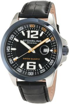 Stuhrling Original Men s 219C.331551 Octane Concorso Villa Swiss Quartz  Date Blue Watch Stuhrling Original f79f7593c94