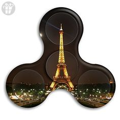 Jave Vive Office Desk Gadget - Paris Eiffel Tower Tri Fidget Hand Spinner Toy For ADD / ADHD / Anxiety / Autism And Stress Relief Adult Children - Fidget spinner (*Amazon Partner-Link)