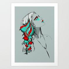 Dreamcatcher Art Print by Gaële Lagacherie - $17.68
