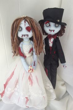 The Couple Helena and Victor Ragdoll zombie by PetitesTerreurs