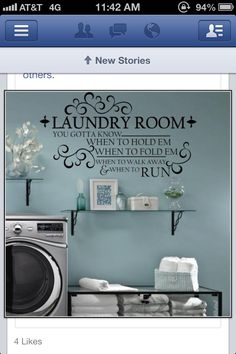 My next project. THE laundry room