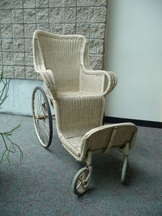 Wicker Wheelchair c. 1917 >>> See it. Believe it. Do it. Watch thousands of SCI videos at SPINALpedia.com