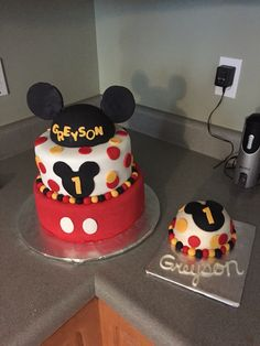 Mickey Mouse First Birthday with smash cake
