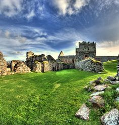 Peel Castle, Isle of Man, a Celtic country with Viking history, as well.