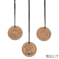 Plastic Pirate Coin Necklaces