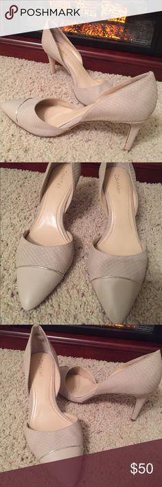 "🌷CALVIN KLEIN HEELS SIZE 7.5🌷WORN ONCE 🌷 SALE 🌷CALVIN KLEIN HEELS SIZE 7.5🌷WORN ONCE 🌷 MAKE OFFER 🌷COLOR: SOFT BEIGE CREAM 🌷HEEL HEIGHT APPROX. 3"". 🌷 Calvin Klein Shoes Heels"