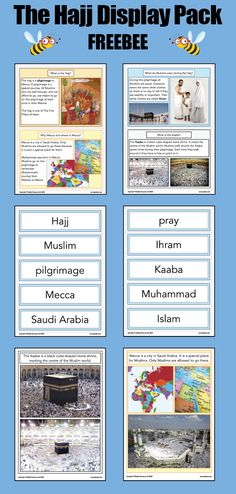 Download this FREE Hajj KS2 display pack for your primary classroom, which contains information cards, picture cards and key vocabulary all about the Muslim pilgrimage to Mecca. Primary Classroom, Primary School, Ks2 Display, Mecca City, What Is Shape, Pilgrimage To Mecca, Rite Of Passage, Religious Education, Picture Cards