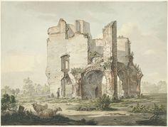 Johannes van Lexmond | De ruïne van de Abdij van Rijnsburg, Johannes van Lexmond, 1779 - 1838 |