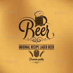 Beer Lager Hop Vintage Background
