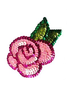 Vintage Sequin Rose Patch by vintagepatchco on Etsy
