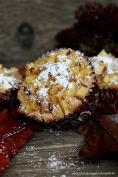 Saftige Bratapfelmuffins mit Mandeln und Zimt