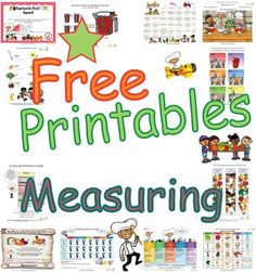 Resources for teaching students about measuring ingredients for healthy food meals and how to cooking healthier recipes with free classroom cooking measurements activities, healthy cooking  and measuring volumes learning pages and worksheets.