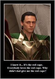 I like the green cape... Goes well with your hair