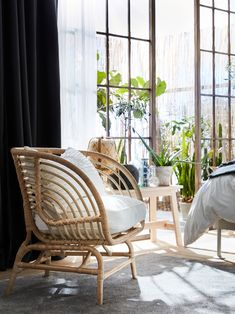 Shop for Furniture, Home Accessories & More - IKEA Rattan Headboard, Daybed, Rattan Armchair, White Armchair, Bright Rooms, 139, Natural Materials, Hanging Chair, Bed Frame
