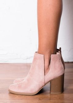 Pink Cutout Booties! Boutique, Online Boutique, Women's Boutique, Modern Vintage Boutique, Booties, Pink Booties, Heel Booties, Cute, Fashion