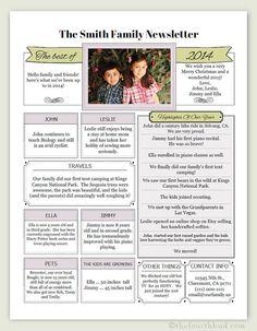 Shabby Blogs Free Family Newsletter Template Printable - Free family newsletter template