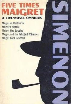 "One of the many ""Maigret"" omnibus volumes...this one published in 1964 and including five novels.  Simenon wrote slightly more than one hundred novels and short stories about Maigret and his cohorts at the Quai des Orfevres...Inspectors Janvier, Lucas and ""little Lapointe"".  Simenon's Paris of the 30's, 40's and 50's is as sharply-defined as is the gaslit London of Sherlock Holmes or the Manhattan of Nero Wolfe and Archie Goodwin (of about the same period)."