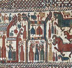 Skogbonaden (Skog tapestry)- Wikipedia, Swedish  13th century embroidered tapestry, wool on linen
