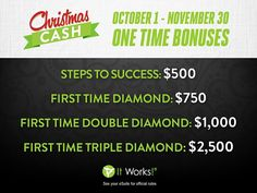Want to make some extra cash for the Holidays?  Join my team and you can have a cash only Christmas!  http://www.sarabales.myitworks.com/join/