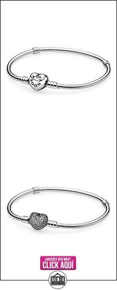 PANDORA - Corazón de plata momentos pulsera PANDORA Pavé 590727CZ - 19  ✿ Joyas para niñas - Regalos ✿ ▬► Ver oferta: https://comprar.io/goto/B01AMPOP08