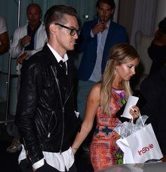 Saliendo de el hotel Mondrian con Chris en West Hollywood.