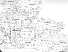 Map of Towns in Central NY