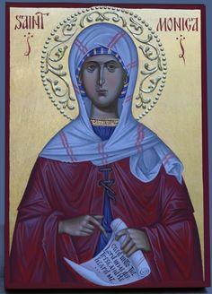 St. Monica hand painted orthodox icon by Georgi Chimev