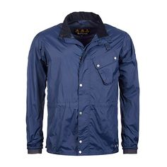 Barbour Newham Jacket in Navy Blue- The Newham Jacket is a lightweight  Barbour with an easy-to-ride style. It features Reflective strips 10477fdfa