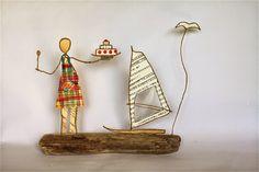 Epistyle: Retour aux Antilles ... J'aime beaucoup les créations d'Epistyle qui se renouvellent sans cesse avec poésie et charme Paper Gifts, Diy Paper, Paper Art, Paper People, Wire Crafts, Beads And Wire, Wire Art, Plant Hanger, Paper Dolls