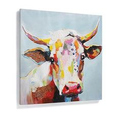 Bessie Wall Art - i kind of want this to hang at the bottom of my basement steps so when I look down I see a cow.