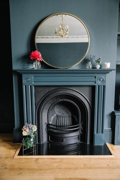 The House Dairies: The Final Images! – Poppy Deyes The House Dairies: The Final Images! – Poppy Deyes Related posts: No related posts. Painted Fireplace Mantels, Paint Fireplace, Cast Iron Fireplace, Faux Fireplace, Fireplace Surrounds, Fireplaces, Victorian Fireplace Mantels, Fireplace Design, Dark Living Rooms