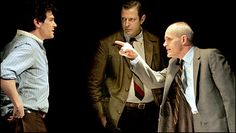 The Pillowman, Martin McDonagh. Billy Crudup, Jeff Goldblum, and Zeljko Ivanck. Not for the faint of heart, but so good. New York Times, Ny Times, Martin Mcdonagh, Eugene Ionesco, Contemporary Theatre, Billy Crudup, Racehorse, Scary, Theater