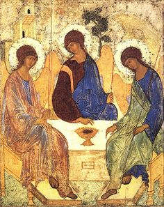Andrei Rublev's Gorgeous Icon of the Trinity, early 15th century