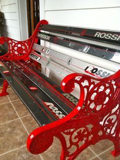 my wife made this :) #rossignol #ski bench meatchris.com